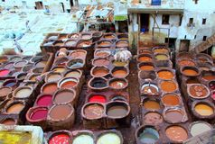 Moroccan tannery Stock Photos
