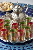 Moroccan tea and cookies Royalty Free Stock Photo