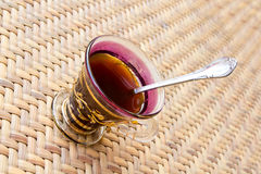Moroccan tea cup perspective Royalty Free Stock Photography