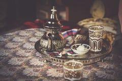 Moroccan Tea cups Stock Photos