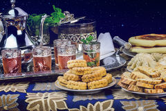 Moroccan tea service Royalty Free Stock Photography