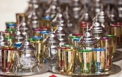 Moroccan tea sets Stock Photos
