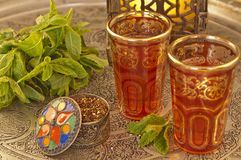 Moroccan tea stock photography