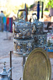 Moroccan  teapots Royalty Free Stock Photos