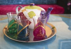 Moroccan teaset Stock Photography