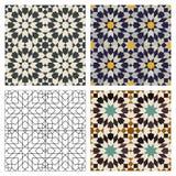 moroccan tegelplattor Arkivbild