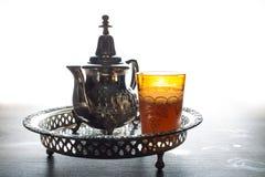 moroccan tekruka och exponeringsglas Royaltyfri Fotografi