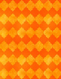 Moroccan Tile Background. A Moroccan tile background in orange with texture Stock Photo