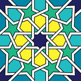 Moroccan tile design, Moorish seamless  pattern, Geometric abstract tiles Stock Photography