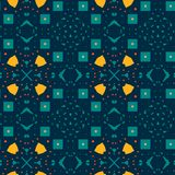 Cyanic yellow Moroccan tile. vector illustration