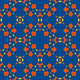 Moroccan tile - seamless pattern on blue background. vector illustration
