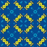 Moroccan tile - seamless pattern, blue background. stock illustration