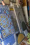 Moroccan tile workshop. Detail from the Moroccan tile workshop in Rabat royalty free stock photography