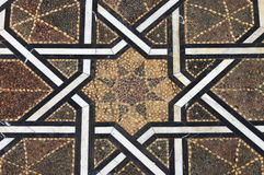 Moroccan tiled floor Royalty Free Stock Photography