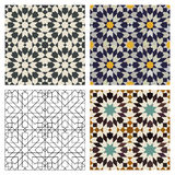 Moroccan Tiles. Seamless mosaic Moroccan tile patterns Stock Photography