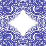 Moroccan tiles ornaments in blue and white colors. Royalty Free Stock Images