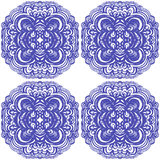 Moroccan tiles ornaments in blue and white colors. Royalty Free Stock Image