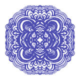 Moroccan tiles ornaments in blue and white colors. Stock Photography