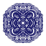 Moroccan tiles ornaments in blue and white colors. Royalty Free Stock Photos