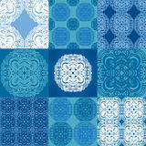 Moroccan tiles ornaments in blue and white colors Royalty Free Stock Photography