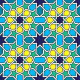 Moroccan tiles pattern, Moorish seamless vector design, Geometric abstract tiles Royalty Free Stock Image