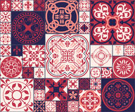 Moroccan tiles Pattern. Vector Illustration of Moroccan tiles Seamless Pattern for Design, Website, Background, Banner. Spanish element for Wallpaper, Ceramic or Royalty Free Stock Image