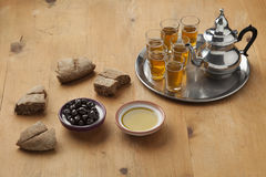 Moroccan traditional breakfast Royalty Free Stock Photos