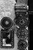 Moroccan traditional ornament plates Royalty Free Stock Images