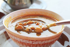 Moroccan traditional soup - harira Royalty Free Stock Image