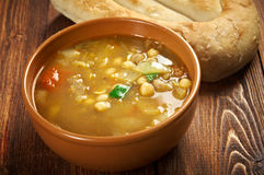 Moroccan traditional soup - harira Royalty Free Stock Photography