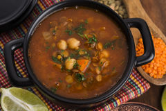 Moroccan traditional soup - harira Stock Photo