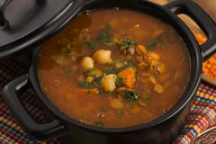 Moroccan traditional soup - harira Royalty Free Stock Photo