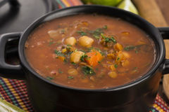 Moroccan traditional soup - harira Stock Images