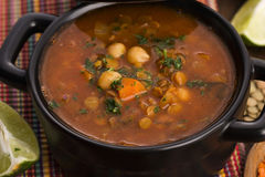 Moroccan traditional soup - harira Stock Photos