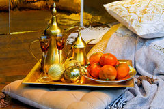 Moroccan tray Stock Photo
