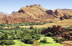 Moroccan valley Royalty Free Stock Photo