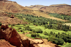 Moroccan valley Stock Image