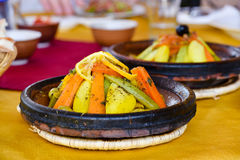 Moroccan vegetable tagine Royalty Free Stock Photos