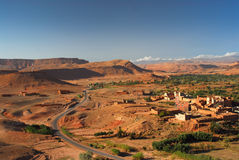 Moroccan Village. In Antiatlas Mountains, Africa Stock Images