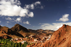 Moroccan village in Dades Valley Stock Photography