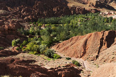 Moroccan village in Dades Valley Royalty Free Stock Photos