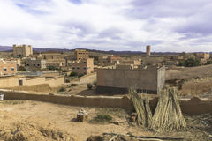 Moroccan village. In the deserts Stock Photo