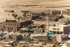 Moroccan village. In the deserts Stock Photos