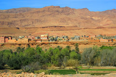 Moroccan village oasis Stock Photos