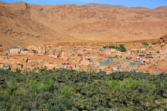 Moroccan village oasis Royalty Free Stock Photography