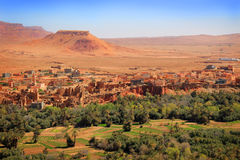 Moroccan village oasis Stock Images