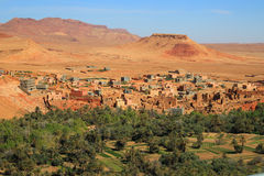 Moroccan village oasis Stock Photo