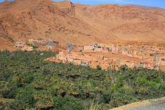 Moroccan village oasis Royalty Free Stock Image