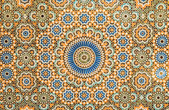 Moroccan vintage tile background Royalty Free Stock Photos