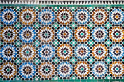 Moroccan vintage tile background Stock Images